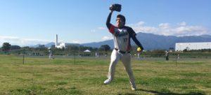 ソフトボールウィンドミルピッチング投球連続写真その10