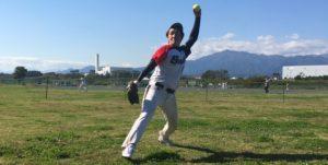 ソフトボールウィンドミルピッチング投球連続写真その12