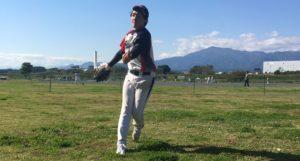 ソフトボールウィンドミルピッチング投球連続写真その15