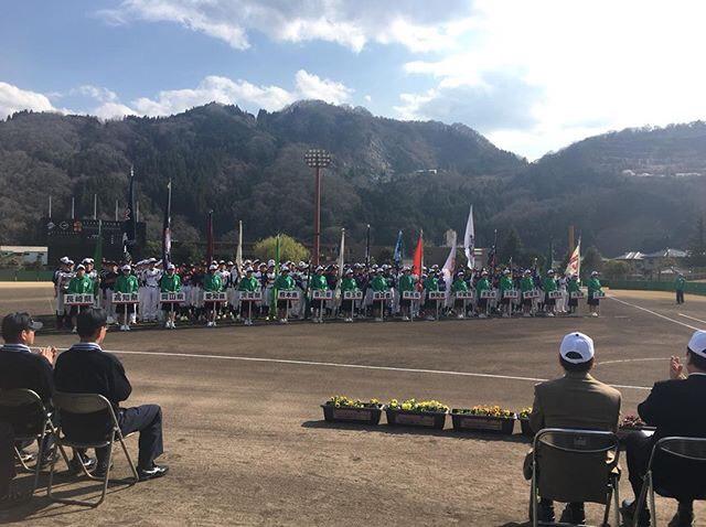 第14回都道府県対抗全日本中学生男子ソフトボール大会開会式の様子
