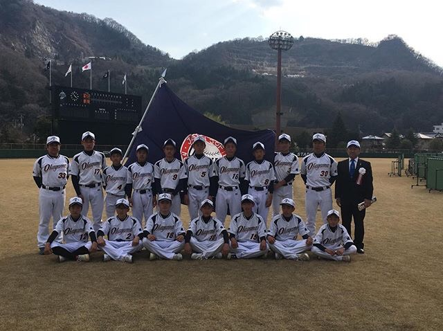 優勝した岡山県選抜集合写真