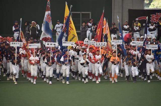 第11回春季全日本小学生男子ソフトボール大会開会式の様子