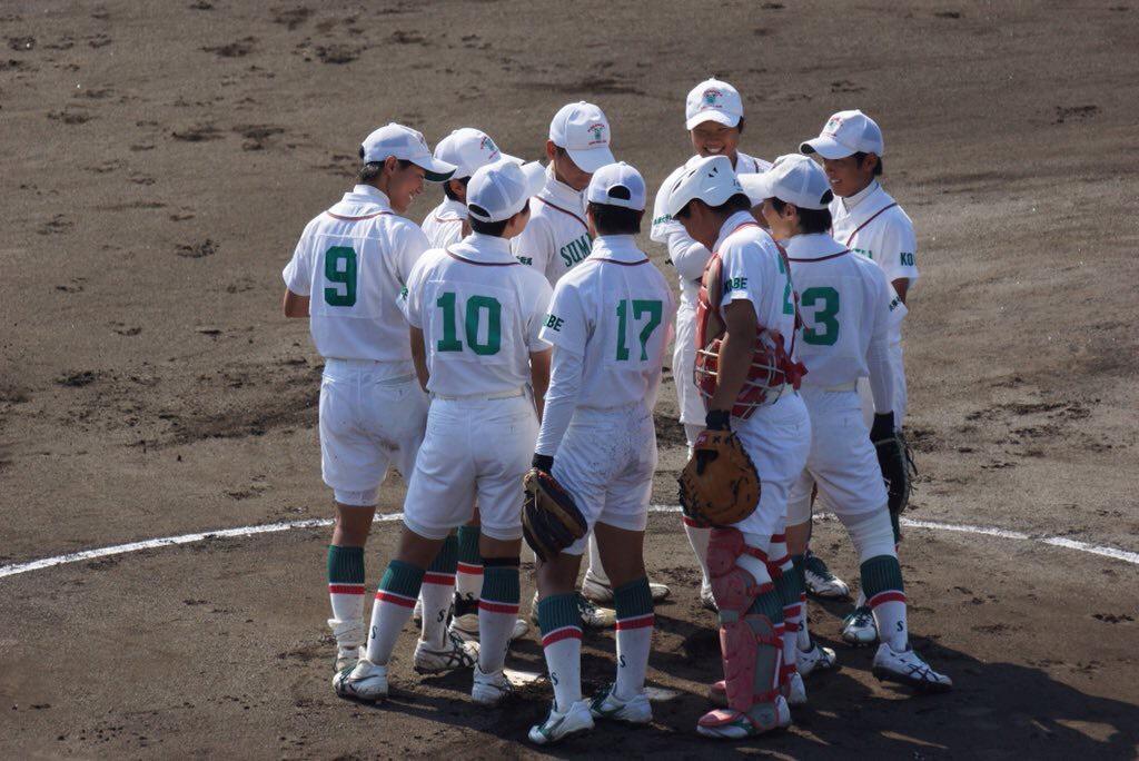 須磨ノ浦高等学校の選手たち