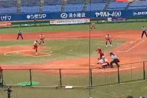 女子ソフトボール・トヨタ自動車、塚本・鈴木選手のインタビュー