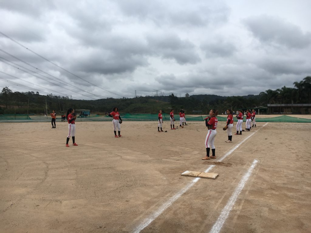 ソフトボールブラジル練習風景