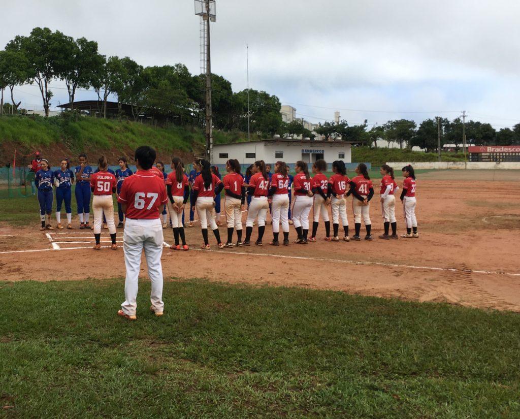 ソフトボール(ブラジル)試合前の様子