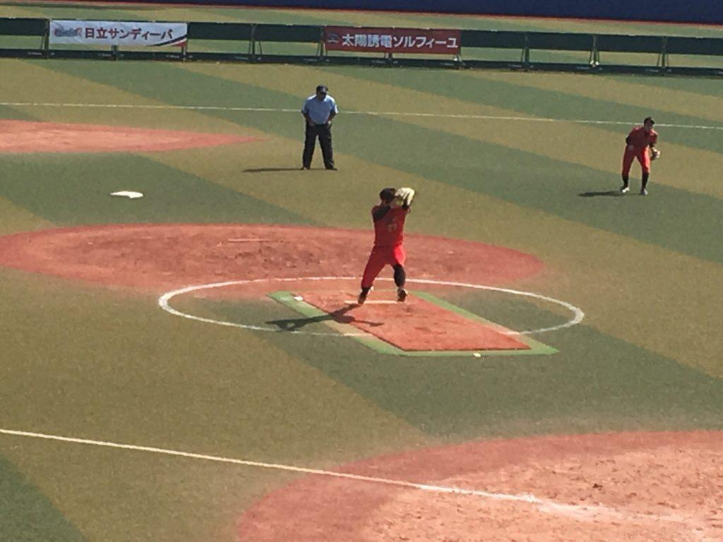 藤田投手投球動作