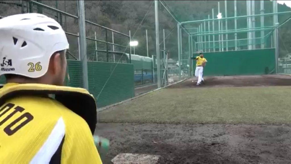 松田投手ストレートリリース後
