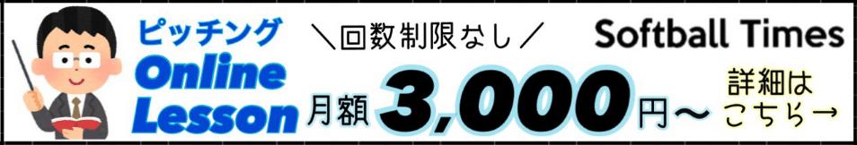 オンラインレッスンバナー3000円