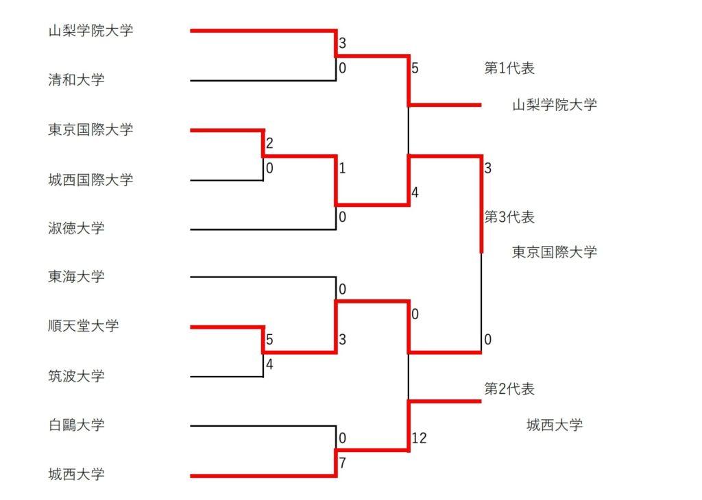 【大学ソフトボール】全国大学選抜ソフトボール選手権大会 関東地区予選会(女子) 結果