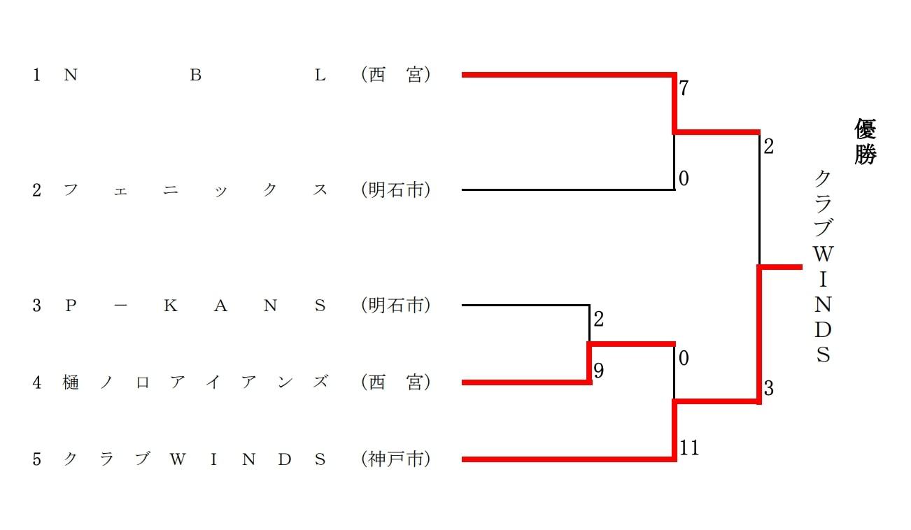 【兵庫県ソフトボール】第25回 全日本レディースソフトボール 兵庫県大会 結果